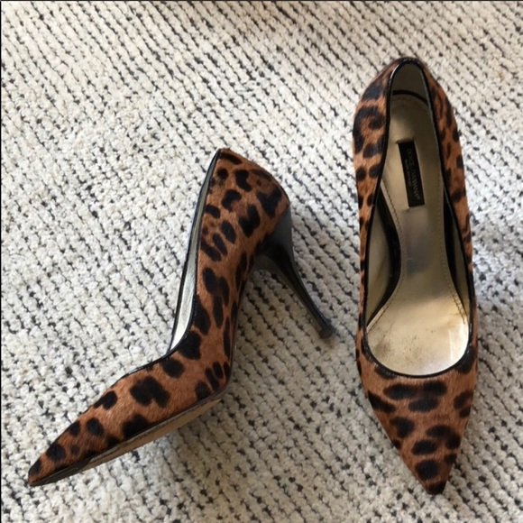 ef921be7a3 Dolce & Gabbana Shoes | Dolcegabbana Pony Hair Leopard Print Pumps ...
